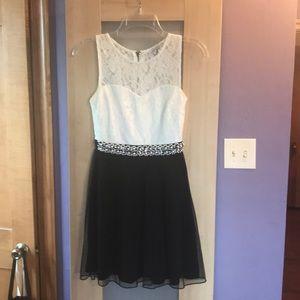Black and White Semi Formal dress